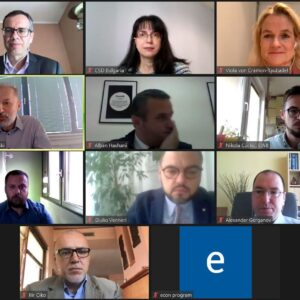"""The panelists and discussants at the Webinar """"State Capture: Bridging the Gap between Diagnostics and Practical Solutionsin the Western Balkans"""", 30 October 2020"""